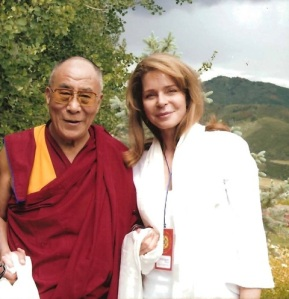 Her Majesty Queen Noor and His Holiness the Dalai Lama