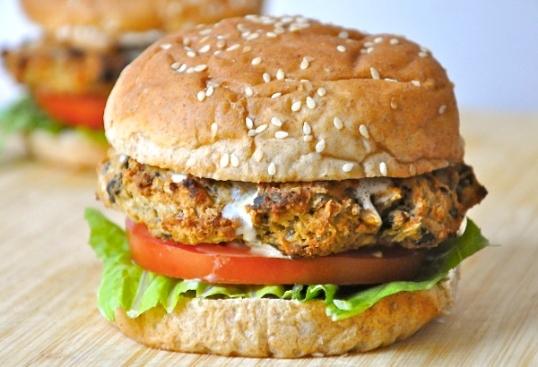 Eggplant Burger by The Tolerant Vegan