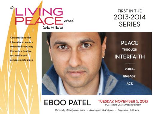 Eboo Patel Living Peace Series